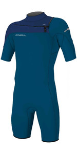 2020 O'Neill Mens Hammer 2mm Chest Zip Spring Shorty Wetsuit 4927 - Blue / Navy