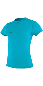 2020 O'Neill Womens Hybrid Short Sleeve Surf Tee 4675 - Turquoise