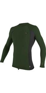 2021 O'Neill Mens Premium Skins Long Sleeve Rash Vest 4170B - Dark Olive