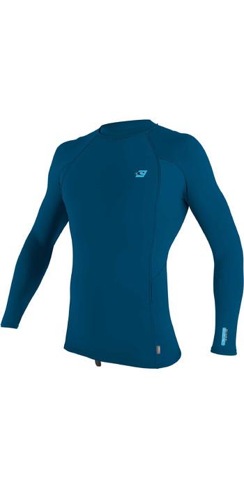2021 O'Neill Mens Premium Skins Long Sleeve Rash Vest 4170B - Blue