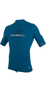 2020 O'Neill Mens Skins Short Sleeve Rash Vest 4517 - Blue