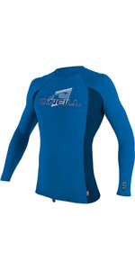 2021 O'Neill Youth Premium Skins Long Sleeve Rash Vest 4174 - Ocean / Abyss