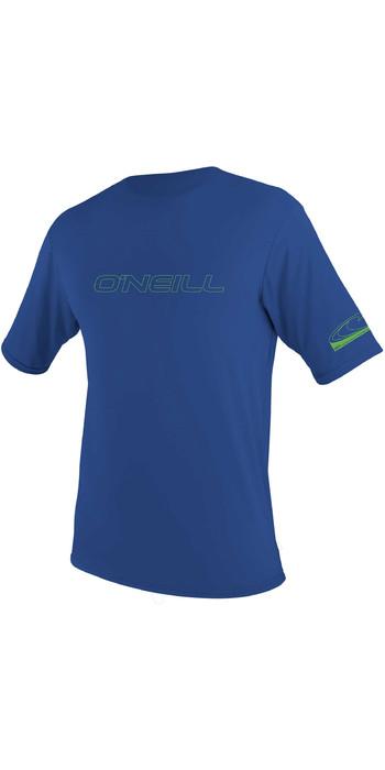2021 O'Neill Youth Basic Skins Short Sleeve Rash Tee 3422 - Pacific