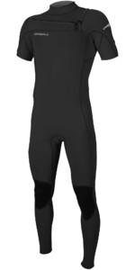 2020 O'Neill Mens Hammer 2mm Chest Zip Short Sleeve Wetsuit 5056 - Black