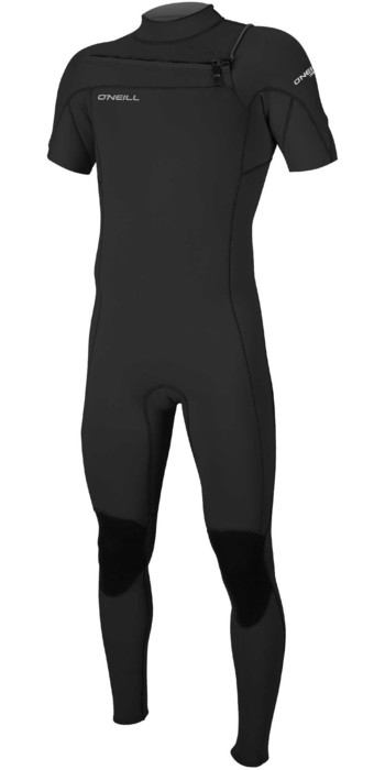 2021 O'Neill Mens Hammer 2mm Chest Zip Short Sleeve Wetsuit 5056 - Black