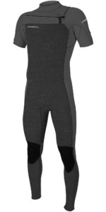 2020 O'Neill Mens Hammer 2mm Chest Zip Short Sleeve Wetsuit 5056 - Acid Wash / Smoke