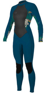2020 O'Neill Womens Bahia 3/2mm Back Zip Wetsuit 5292 - French Navy / Bridget