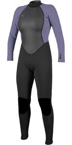 2020 O'Neill Womens Reactor II 3/2mm Back Zip Wetsuit 5042 - Black / Mist