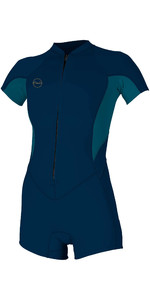 2020 O'Neill Womens Bahia 2/1mm Front Zip Shorty Wetsuit 5293 - Abyss / French Navy