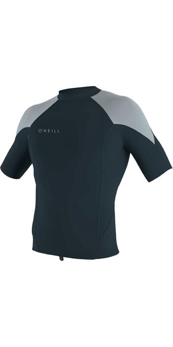 2021 O'Neill Mens Reactor II 1mm Neoprene Short Sleeve Top 5081 - Slate / Cool Grey