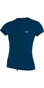 2020 O'Neill Womens Premium Skins Short Sleeve Sun Shirt 5302 - Abyss