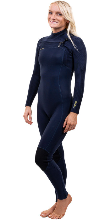 2021 O'Neill Womens Hyperfreak+ 4/3mm Chest Zip Wetsuit 5349 - Abyss
