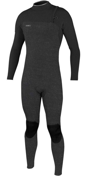 2021 O'Neill Mens Hyperfreak Comp 3/2mm Zipperless Wetsuit 4970 - Acid Wash / Graphite