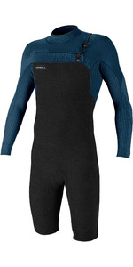 2021 O'Neill Mens Hyperfreak 2mm Chest Zip GBS Long Sleeve Shorty Wetsuit 5004 - Acid Wash / Abyss