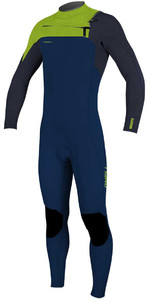 2020 O'Neill Youth Hyperfreak+ 4/3mm Chest Zip GBS Wetsuit 5351 - Abyss / Day Glo