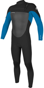 2020 O'Neill Mens Epic 3/2mm Chest Zip Wetsuit 5353 - Black / Blue