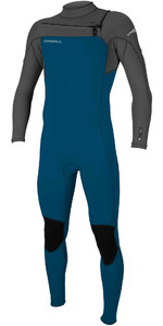 2020 O'Neill Youth Hammer 3/2mm Chest Zip Wetsuit 5412 - Blue / Smoke