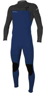 2020 O'Neill Youth Hammer 3/2mm Chest Zip Wetsuit 5412 - Navy / Acid Wash