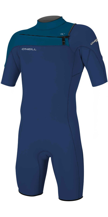 2021 O'Neill Youth Hammer 2mm Chest Zip Shorty Wetsuit 5413 - Navy / Blue