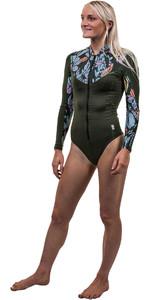 2020 O'Neill Womens Full Zip Long Sleeve Surf Suit 5408S - Dark Olive / Baylen