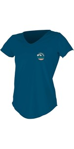2020 O'Neill Womens Scoop Neck Short Sleeve Sun Shirt 5404S - French Navy