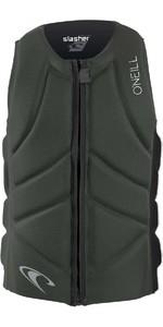 2020 O'Neill Mens Slasher Comp Impact Vest 4917EU - Dark Olive / Black