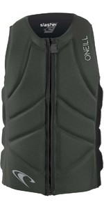 2020 O'Neill Mens Slasher Comp Impact Vest 4917EU - Dark Olive / Black