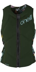 2021 O'Neill Womens Slasher Comp Impact Vest 4938EU - Dark Olive / Baylen