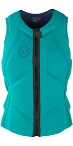 2021 O'Neill Womens Slasher B Comp Impact Vest 5331EU - Light Aqua / Navy