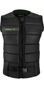2020 O'Neill Mens Outlaw Comp Impact Vest 5397EU - Black / Dark Olive