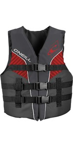 2020 O'Neill Youth Superlite 50N ISO Impact Vest 4725EU - Smoke / Graphite / Red