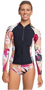 2020 Roxy Womens POP Surf 1mm Neoprene Jacket ERJW803018 - Black / Terracotta