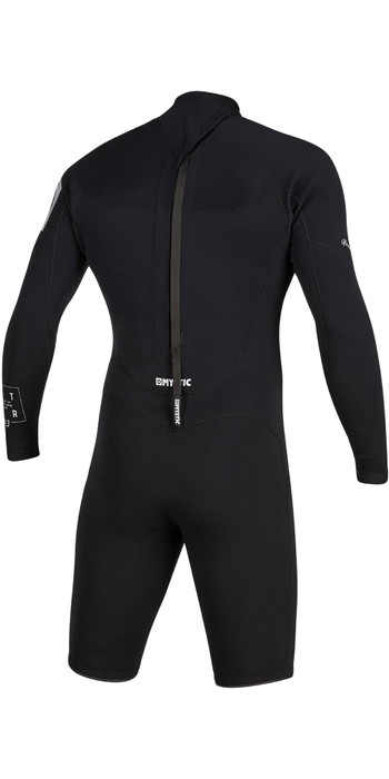 2020 Mystic Mens Star 3/2mm Long Sleeve Back Zip Shorty Wetsuit 200064 - Black