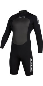 2020 Mystic Mens Star 3/2mm Long Sleeve Back Zip Shorty Wetsuit 200064 - Black