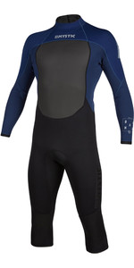 2020 Mystic Mens Brand 3/2mm Long Arm Short Leg Back Zip Wetsuit 200067 - Navy
