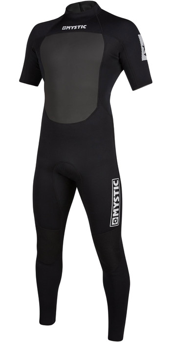 2021 Mystic Mens Brand 3/2mm Short Sleeve Back Zip Wetsuit 200068 - Black
