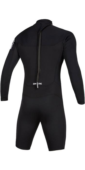 2020 Mystic Mens Brand 3/2mm Long Sleeve Back Zip Shorty Wetsuit 200069 - Black