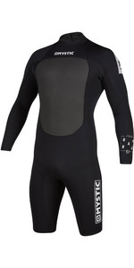 2020 Mystic Mens Brand 3/2mm Long Sleeve Back Zip Shorty Wetsuit 200069 - Black