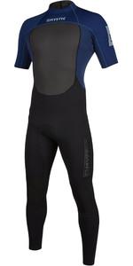 2020 Mystic Mens Brand 3/2mm Short Sleeve Back Zip Wetsuit 200068 - Navy