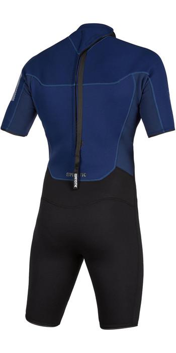 2021 Mystic Mens Brand 3/2mm Back Zip Shorty Wetsuit 200070 - Navy