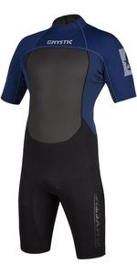 2021 Mystic Mens Brand 3/2mm Back Zip Shorty Wetsuit 200070 - Navy