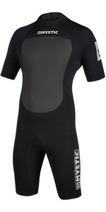 2020 Mystic Mens Brand 3/2mm Back Zip Shorty Wetsuit 200070 - Black