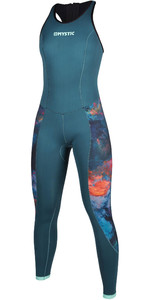 2020 Mystic Womens Diva 2mm Back Zip Long Jane Wetsuit 200073 - Teal