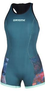 2020 Mystic Womens Diva 2mm Short Jane Wetsuit 200074 - Teal