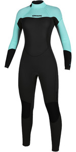 2020 Mystic Womens Brand 3/2mm Back Zip Wetsuit 200080 - Mint Green