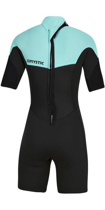 2021 Mystic Womens 3/2mm Back Zip Shorty Wetsuit 200084 - Mint Green