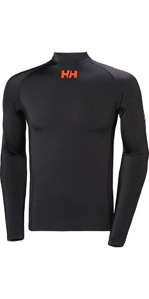 2019 Helly Hansen Long Sleeve Rash Vest Black 34023