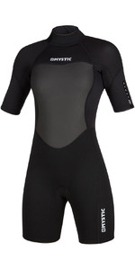 2021 Mystic Womens 3/2mm Back Zip Shorty Wetsuit 200084 - Black