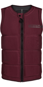 2020 Mystic Mens Star Impact Vest Front Zip 200182 - Oxblood Red