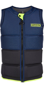 2020 Mystic Mens Marshall Impact Vest Front Zip 200181 - Navy / Lime